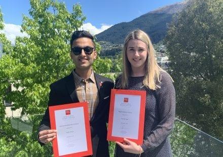 Grad Dip graduates Yagik Mohan and Danielle Ingle